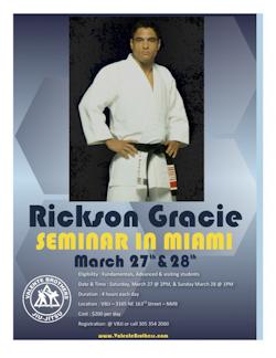 Rickson in Miami: few spots left