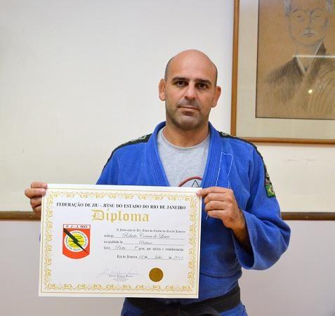 Gordo receives 5th stripe on black belt