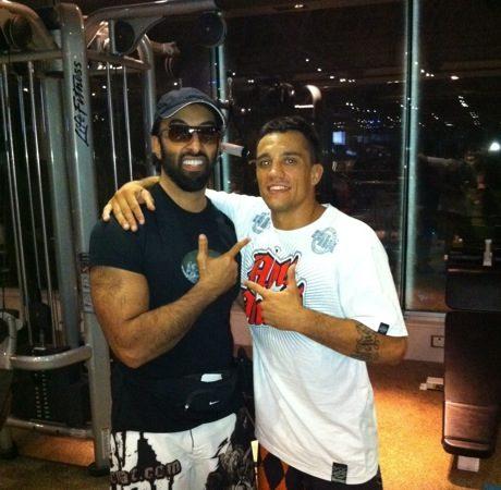Frazatto treina com príncipe antes do ADCC 2011