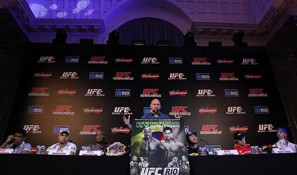 Inside the UFC Rio press conference