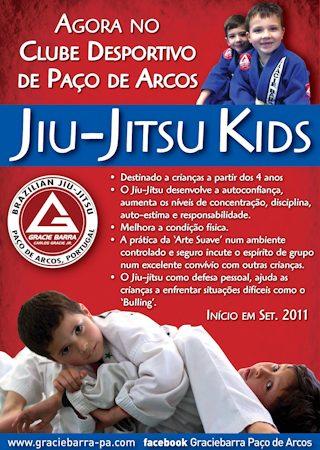 """Jiu-Jitsu for """"miudos"""" at Gracie Barra Paço dos Arcos"""