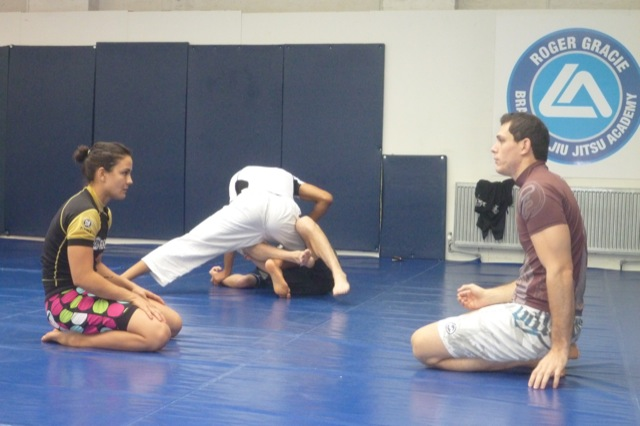 Kyra training with Roger for ADCC 2011