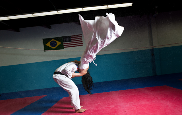 Aldo Batista takes his bride to the mats
