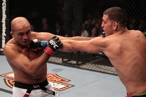 Pics of BJ Penn's likely last fight, against Nick Diaz