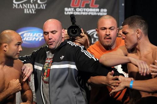 Things heat up at UFC weigh-ins