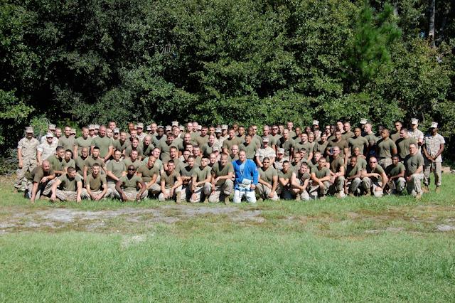 Michael Sergi teaches Jiu-Jitsu to the Marines