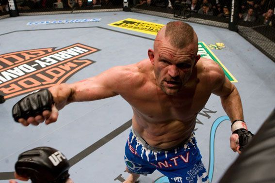 Watch Chuck Liddell showing the power of a MMA spinning kick