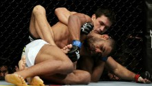 UFC 136: seen the American football star testing Demian's Jiu-Jitsu yet?