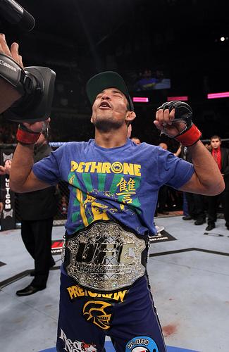 José Aldo, rei dos penas. Foto: UFC.