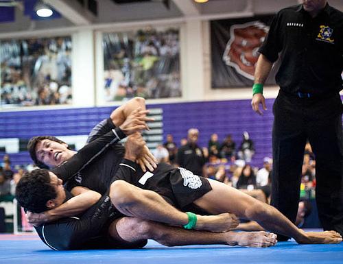 Kayron Gracie vs. Daniel Tavares at the 2011 Pan No-Gi Jiu-Jitsu Championship. Photo: Dan Rod