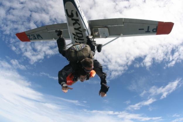 O verdadeiro armlock voador, a mais de 3 mil metros de altura