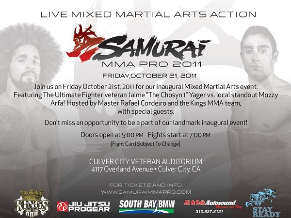 Samurai Pro's maiden MMA show coming up October 21