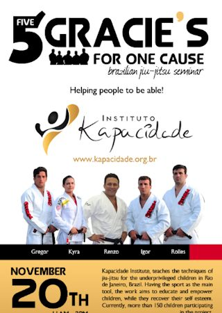 Five Gracies for a cause