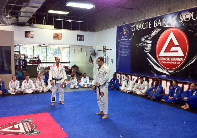 Bill awards Cuartero the black belt
