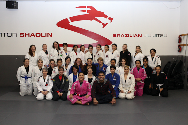 Kyra teaches ladies-only class at Vitor Shaolin BJJ