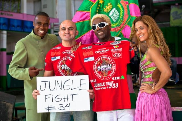 November Jungle Fight show at Mangueira samba school