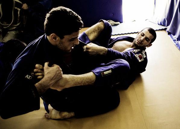 Marinho treina com o campeão absoluto Rodolfo Vieira onde pode. Foto: Divulgação/GFTeam.