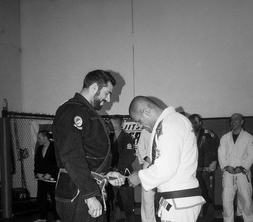 Black belt James Foster receives his 2nd degree