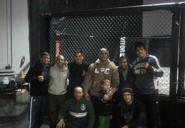Belfort's boxing and Jiu-Jitsu training