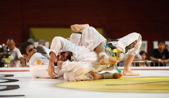 Leandro Lo finaliza na Copa Pódio de Jiu-Jitsu em Porto Alegre, em dezembro. Foto: Gustavo Aragão.
