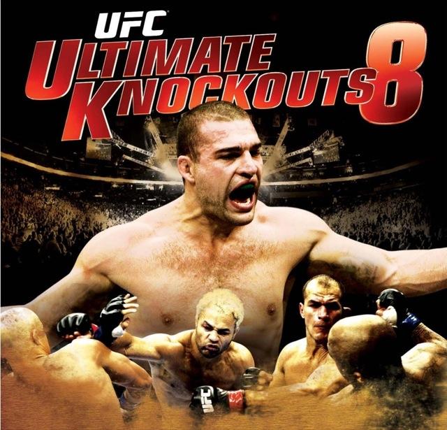 Capa do DVD Ultimate Knockauts 8, com os melhores nocautes do UFC.