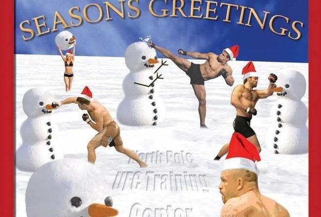 UFC deseja um Natal fofo e com neve para seus fãs