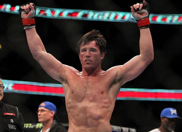 Chael comemora no UFC on Fox 2. Foto: Josh Hedges, UFC