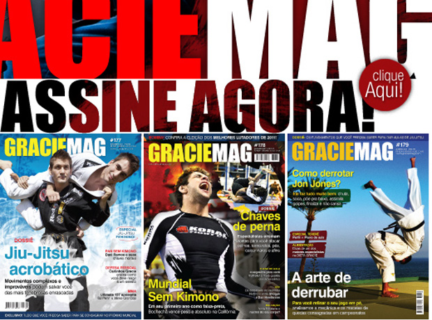 Chamada para assinar a GRACIEMAG, a maior revista de Jiu-Jitsu do planeta