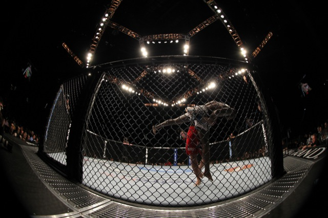 Two MMA fighters in the UFC octagon / Photo: UFC publicity