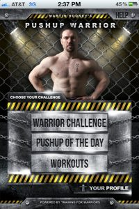 Pushup Warrior is the new App released by Martin Rooney