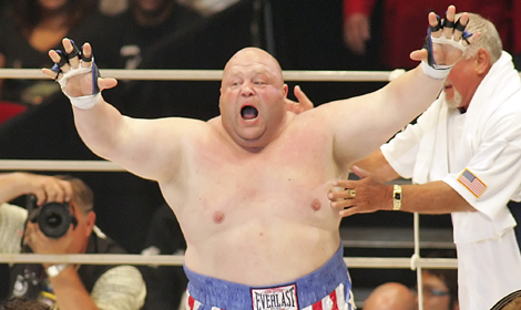 Eric Butterbean celebrating win in Japan / Publicity photo