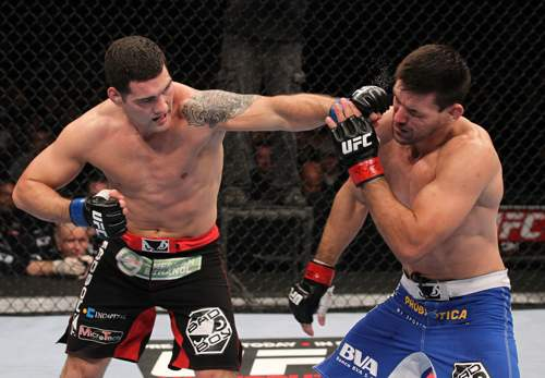 Chris Weidman (pictured) has been forced out of his UFC 155 bout due to an undisclosed injury.