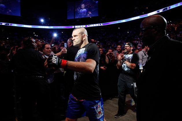 O ex-campeão dos meio-pesados Chuck Liddell entra no UFC 115 para sua última luta de MMA, contra Rich Franklin. Foto: Divulgação UFC.
