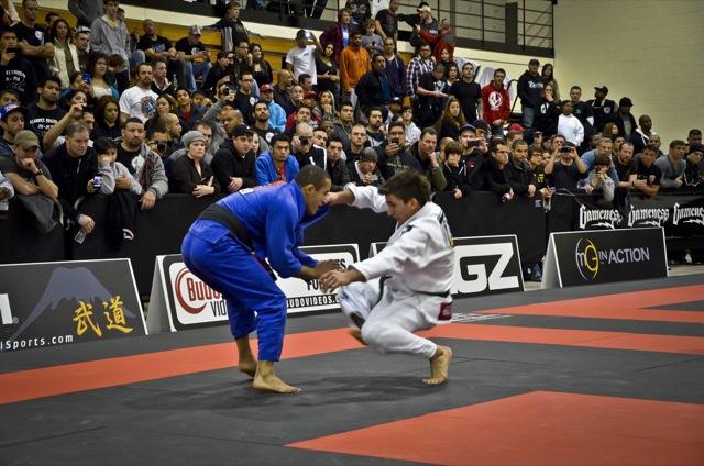 Gui Mendes e Pablo Gracie Barra na semi do Houston Open de Jiu Jitsu foto por Calimbas