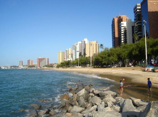 Praia do Meio em Fortaleza: sede do Jiu-Jitsu.