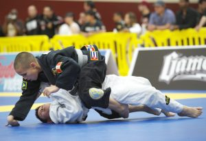 Kids competing BJJ at their Pan. Carson, CA, Feb of 2012