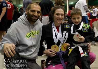 Zingano and son medalists in Colorado