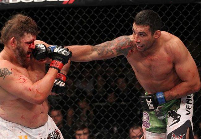 Werdum troca com Roy Nelson. Foto: Nick Laham, UFC.