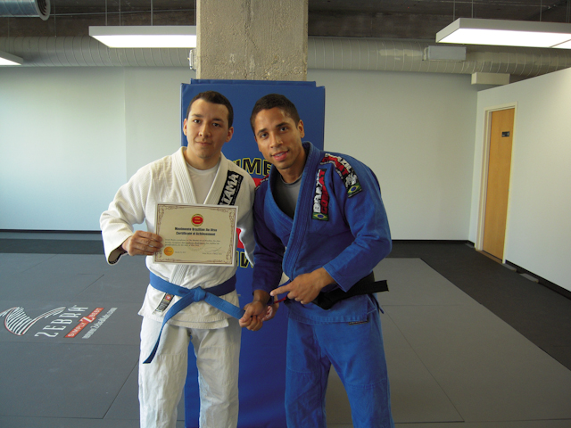 Rodriguez and black belt Israel Reyes