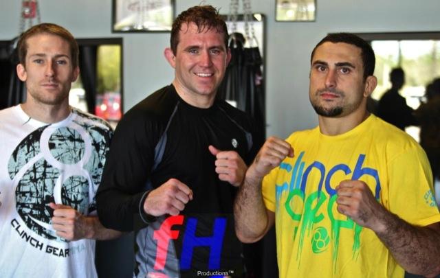 Alan Belcher durante treino com Daniel Moraes (de amarelo). Foto: Divulgação/GRACIEMAG.