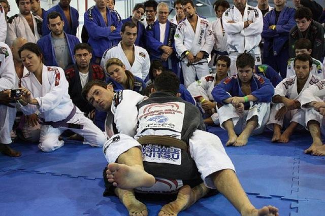 Demian Maia em seminario de Jiu Jitsu em SP. Foto Carlos Ozorio