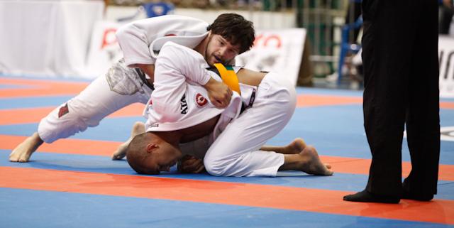 Tarsis Humphreys em ação no Jiu-Jitsu, em Gramado. Foto: Ivan Trindade/GRACIEMAG.com.