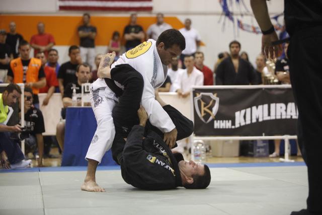 He got up to pass guard in Jiu-Jitsu? Sweep and finish him