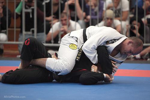 Os dois finalistas do absoluto, Xande e Galvão, esbanjaram Jiu-Jitsu em San Diego, Califórnia. Foto: Alicia Anthony.