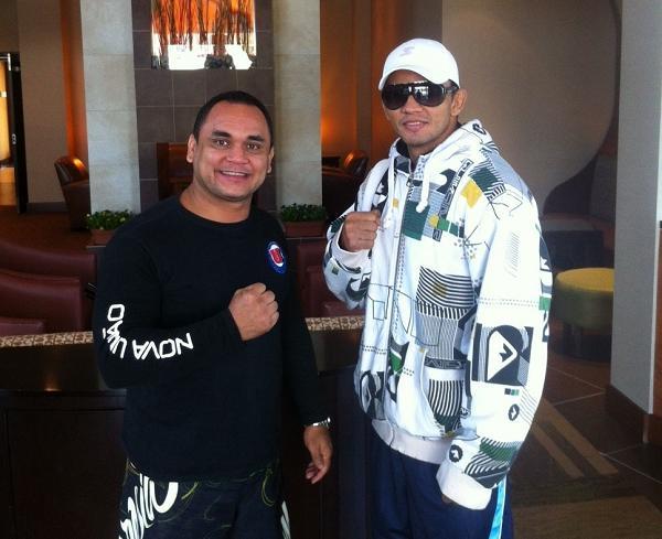 Guilherme Santos e Carlos Índio em Connecticut. Foto:Arquivo pessoal