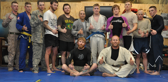 Jiu-Jitsu present at the military bases in Afghanistan