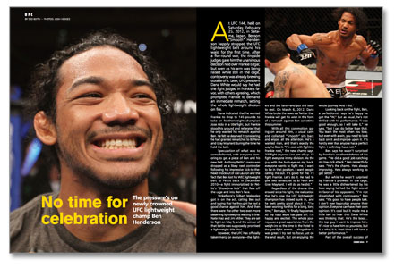 UFC fighter Ben Henderson interview for GRACIEMAG CHOKE MMA 181