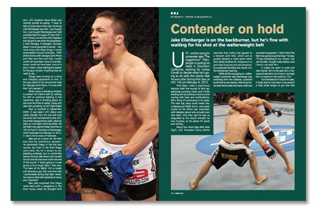 UFC Figther Jake Ellenberger featured at GRACIEMAG CHOKE MMA 181