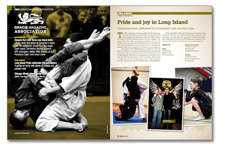 Jiu-Jitsu instructors from all over the world at GMA section of GRACIEMAG 181