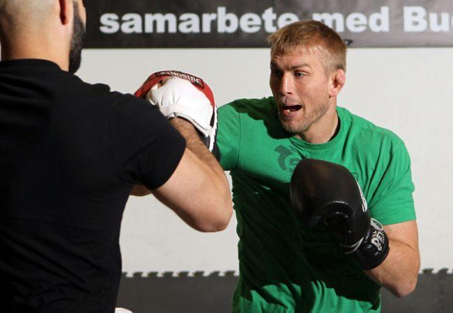Alexander Gustafsson, durante os treinos abertos do UFC para a mídia, quarta-feira, no Pancrase Gym da capital sueca.